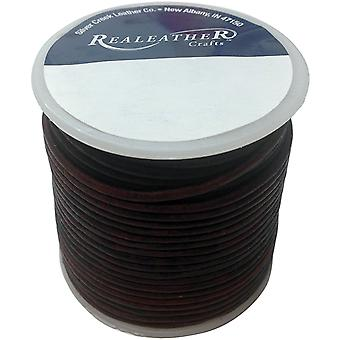Round Leather Lace 2mm 25yd Spool-Mahagony RL2520-0403