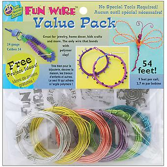 Plastic Coated Fun Wire Value Pack 9 Foot Coils 24 Gauge Translucent 6 Pkg Vp84 84492
