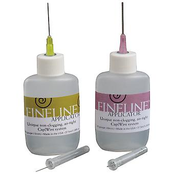 20 Gauge Fineline Applicator 2 Pkg 1.25Oz Refillable Bottle Fl2022