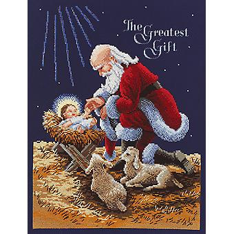 Kneeling Santa Counted Cross Stitch Kit 11