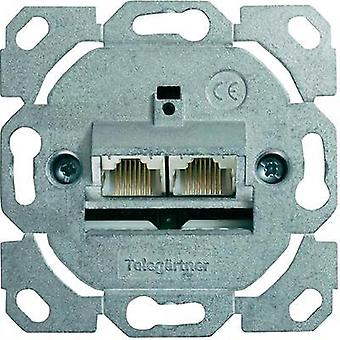 Network outlet Flush mount Insert CAT 6 2 ports Telegärtner