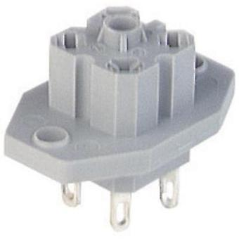 Hirschmann 931 782-106 G 30 E 3 Mounting Socket With Flange, With Solder Contacts Grey Number of pins:3 + PE