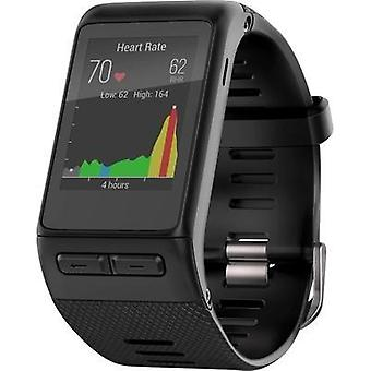 GPS heat rate monitor watch with built-in sensor Garmin vivoactive HR Size (XS - XXL)=M Black