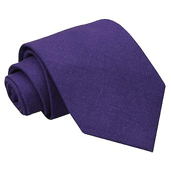 Purple Hopsack Linen Regular Tie