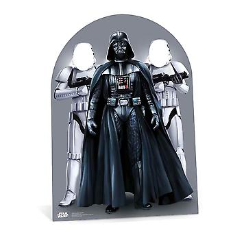 Star Wars Darth Vader and Stormtroopers Child Size Stand in Cardboard Cutout / Standee/ Stand Up