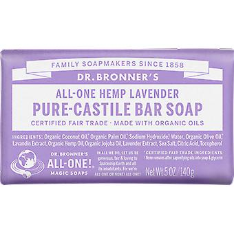 Dr Bronner All-One Hemp Lavender Pure-Castile Soap Bar