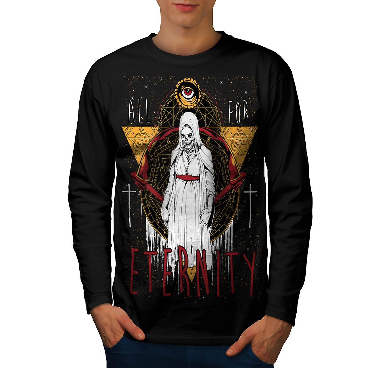 Eternal Death Lady Eternity Life Men Black Long Sleeve T-shirt | Wellcoda