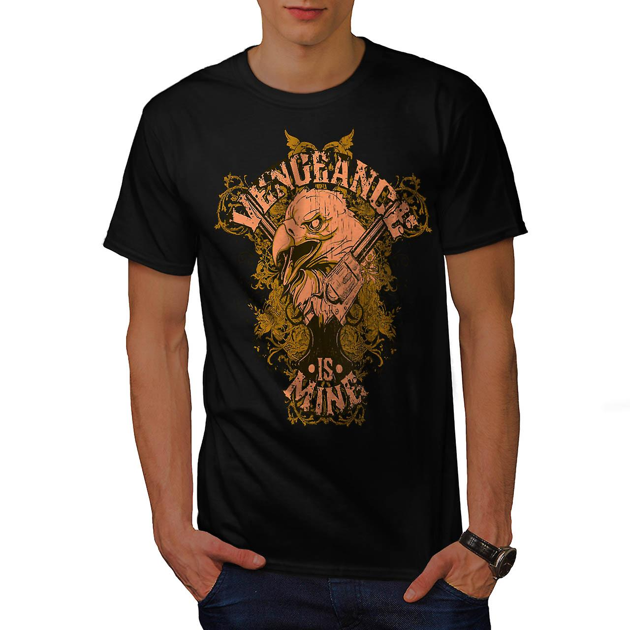 Vengeance Is Mine Vintage mannen zwart T-shirt | Wellcoda