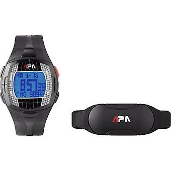 Heart rate monitor watch with chest strap Basetech GB77 Coded transmission
