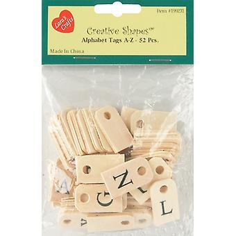 Alphabet Tags A-Z 52/Pkg-Natural 1