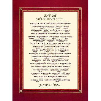 And He Shall Be Called Poster Print (12 x 16)