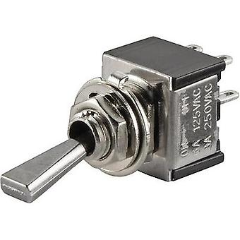Toggle switch 250 Vac 3 A 2 x Off/On SCI TA201F1 latch 1 pc(s)