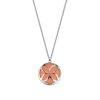 ESPRIT ladies chain stainless steel Thriving flora Caribian Coral ESNL12456B800