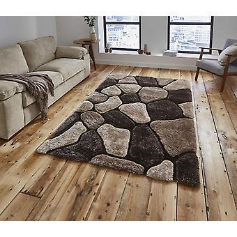 Nobel huis Pebbles 5858 Beige bruin rechthoek tapijten Plain/bijna gewoon tapijten