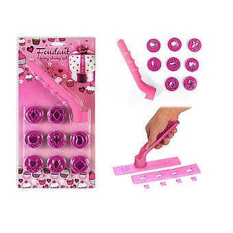 Baking Decorating Icing Cutter Stamp 9 Piece Set Fondant Cake Making Cooking