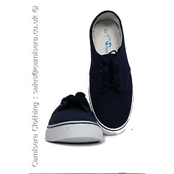 Yachtmaster Men's Canvas Deck Boat Loafers Shoes Plimsoles Lace UP