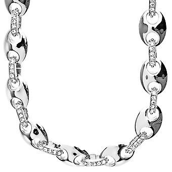 Iced Out Hip Hop Style Kette - PHARRELL 14mm silber