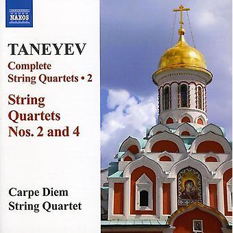 S.I. Taneyev - Taneyev: Komplet Strygekvartetter Vol. 2 [CD] USA import