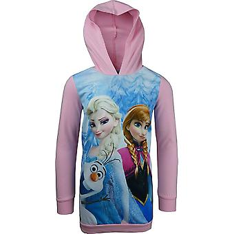 Girls Disney Frozen Hooded Long Sleeve Tunic / Dress