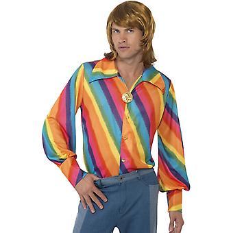 Hippie 60s flower power Rainbow shirt T-shirt men's