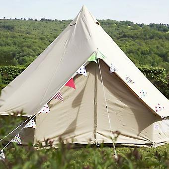 Boutique Camping 4m Sandstone Bell Tent With Zipped In Ground Sheet
