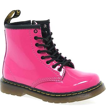 Dr. Martens Brooklee B Infant Girls Pink Lace Up Boots