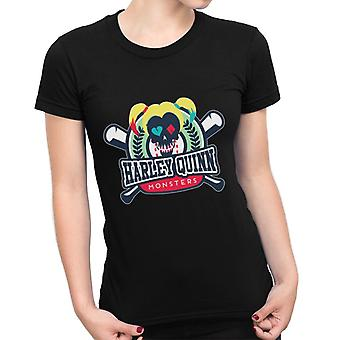 Harley Quinn Monsters Baseball Suicide Squad Women's T-Shirt
