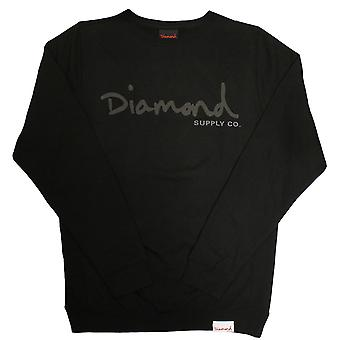 Diamond Supply Co tonale OG Skript Sweatshirt schwarz