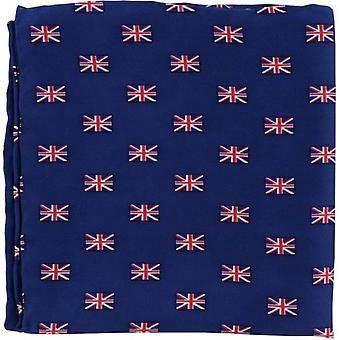Michelsons of London Small Union Jack Silk Handkerchief - Red/White/Blue