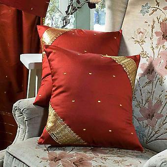 Ruggine-decorativo artigianale fodera per cuscino, federa Throw Euro Sham-6 dimensioni