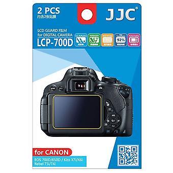 JJC Guard Film Crystal Clear Displayschutzfolie für Canon EOS 650D 700 D / Rebel T4i, T5i - kein Schneiden (2 Film-Pack)