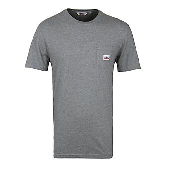 Penfield Grey Marl Label Crew Neck T-Shirt