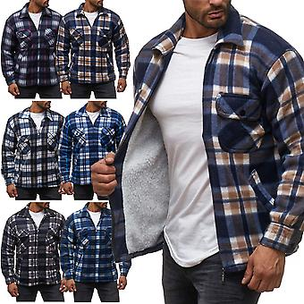 Men's logger shirt checkered Thermohemd lined sweat shirt jacket flannel workwear