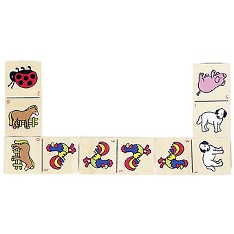 Goki Animal domino game in wooden box (Toys , Boardgames , Traditionals)