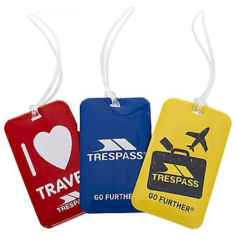 Trespass Traveltrio Luggage Tags (Pack Of 3)