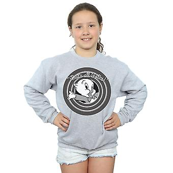 Looney Tunes Girls Porky Pig That's All Folks Sweatshirt