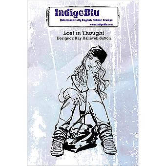 IndigoBlu Cling Mounted STamp-Lost In Thought IND0132P