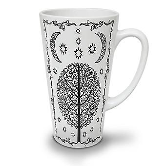 Ornament Life Tree NEW White Tea Coffee Ceramic Latte Mug 17 oz | Wellcoda