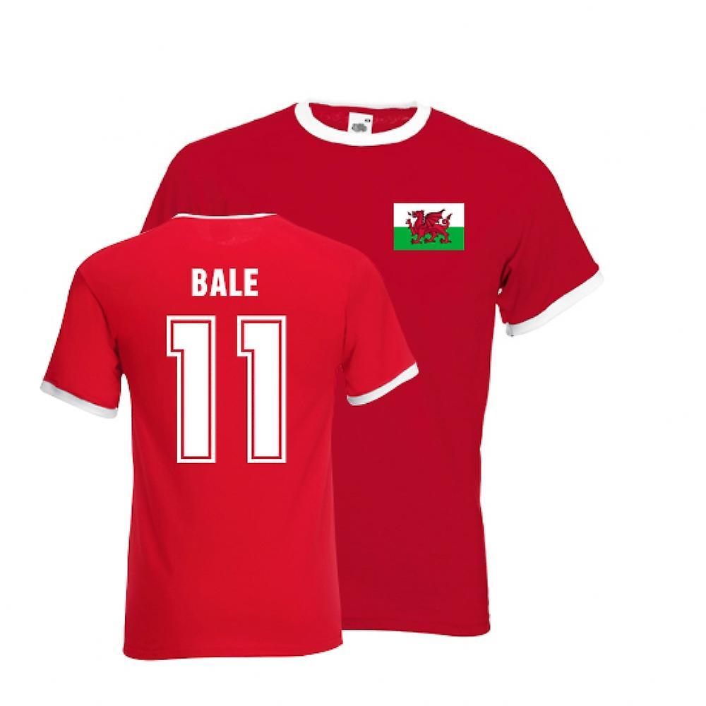 Gareth Bale Galles Ringer Tee (rosso)