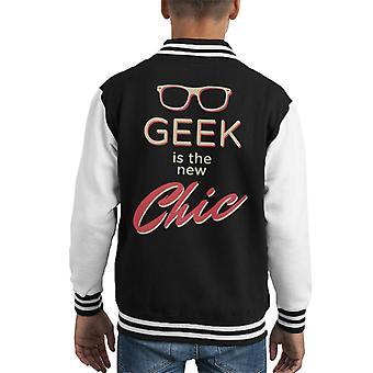 Geek Is The New Chic Kid's Varsity Jacket
