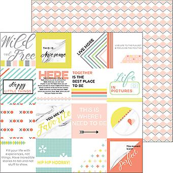 Live More Double-Sided Cardstock 12