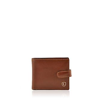 Ascari Tri-fold Wallet in marrone