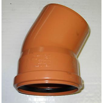 Soil Pipe 30 Degree Bend 110 mm Inlet - Push Fit - Brown - Underground - Waste