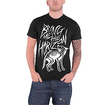 Bring Me The Horizon T Shirt Wolf Bones band logo Official Mens Black