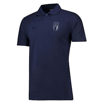 2018-2019 Италия Puma Адзурри поло рубашка (Peacot)