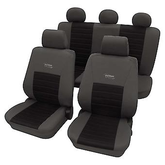 Sports Style Grey & Black Seat Cover set For Volkswagen Polo 2001-2009