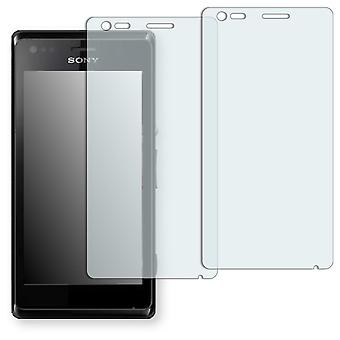 Sony Xperia M dual screen protector - Golebo crystal clear protection film