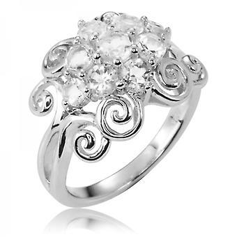 Shipton and Co Celebration Ring Of Silver & White Topaz Sparkle