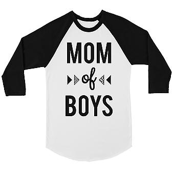 Mãe de meninos Womens Baseball Tee