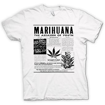 Womens T-shirt - Marihuana Hash - Assassin Of Youth